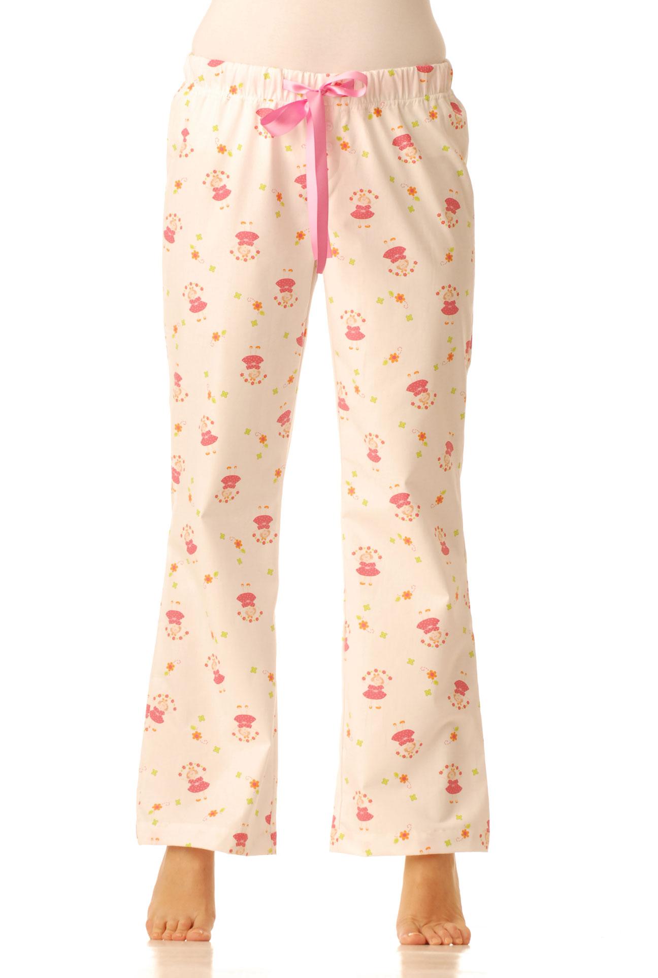 Pyžamové kalhoty - Růžové panenky